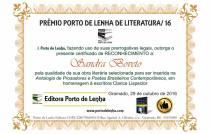 Prêmio Porto de Lenha de Literatura 20166